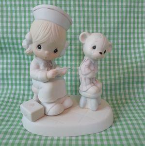 Vintage Prescious Moments Nurse and Bear Figurine